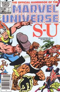 Cover Thumbnail for The Official Handbook of the Marvel Universe (Marvel, 1983 series) #11