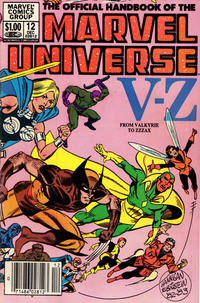 Cover Thumbnail for The Official Handbook of the Marvel Universe (Marvel, 1983 series) #12