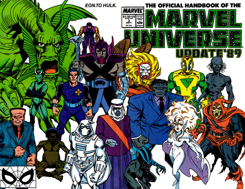 Cover for The Official Handbook of the Marvel Universe (Marvel, 1989 series) #3