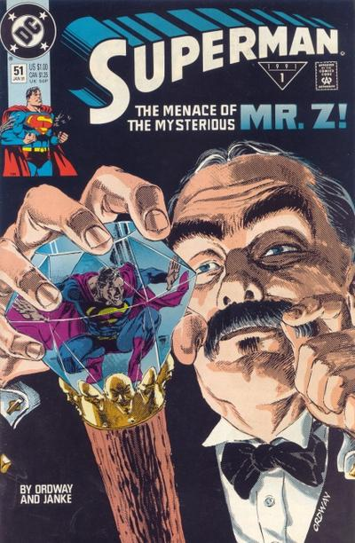 Cover for Superman (DC, 1987 series) #51 [Direct]