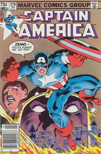 Cover Thumbnail for Captain America (Marvel, 1968 series) #278 [Canadian Newsstand Edition]