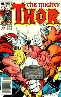 Cover Thumbnail for Thor (Marvel, 1966 series) #338 [Canadian variant]