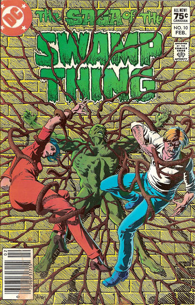 Cover for The Saga of Swamp Thing (DC, 1982 series) #10 [Canadian price variant]