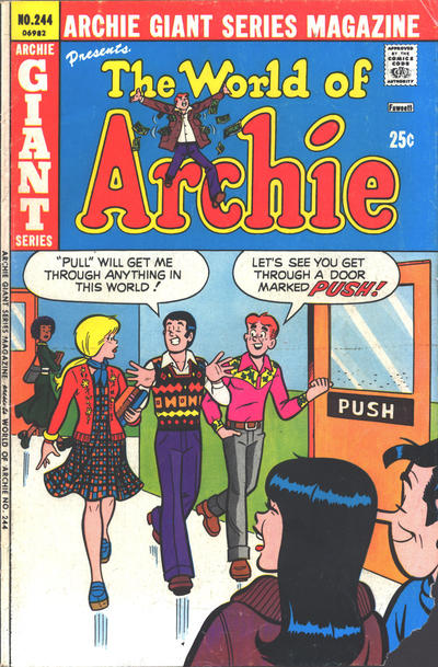 Cover for Archie Giant Series Magazine (Archie, 1954 series) #244