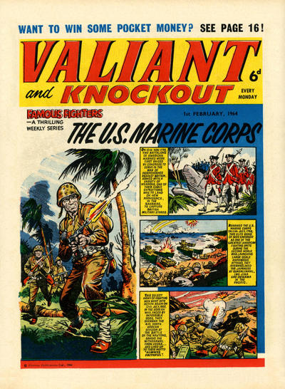 Cover for Valiant and Knockout (IPC, 1963 series) #1 February 1964