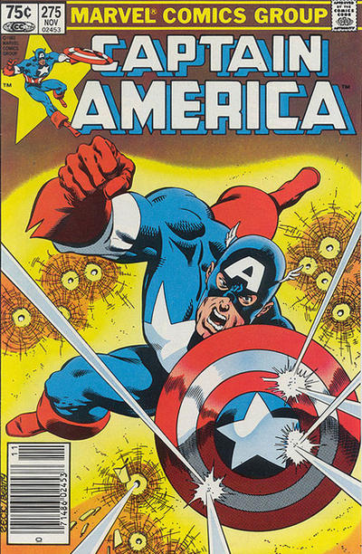 Cover for Captain America (Marvel, 1968 series) #275 [Canadian Newsstand Edition]