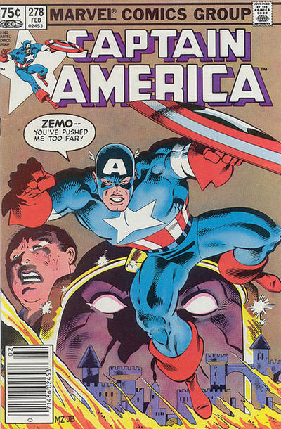 Cover for Captain America (Marvel, 1968 series) #278 [Newsstand Edition]