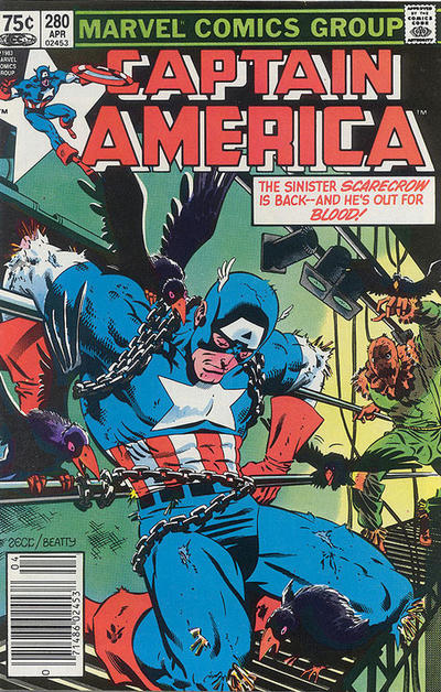 Cover for Captain America (Marvel, 1968 series) #280 [Newsstand Edition]