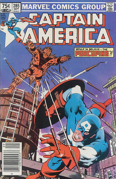Cover for Captain America (Marvel, 1968 series) #285 [Canadian Newsstand Edition]
