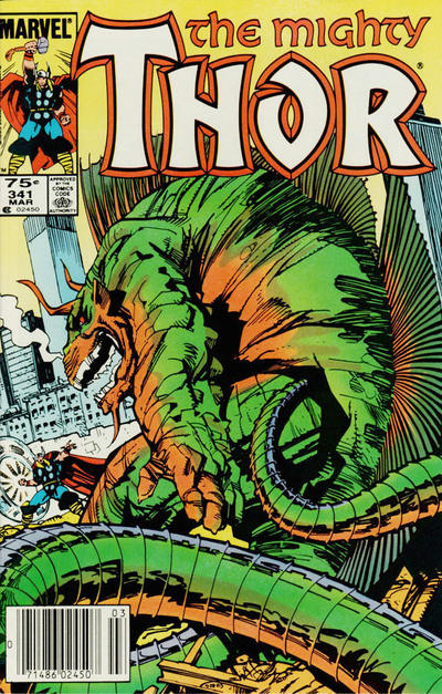 Cover for Thor (Marvel, 1966 series) #341 [Canadian]