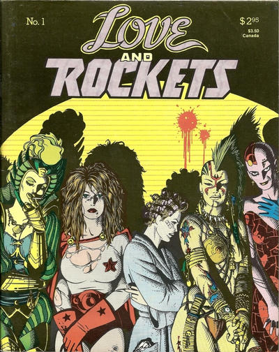 Cover for Love and Rockets (Fantagraphics, 1982 series) #1 [1st printing]