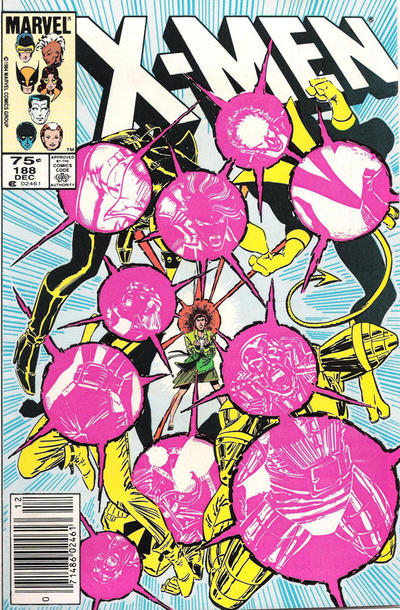Cover for The Uncanny X-Men (Marvel, 1981 series) #188 [Newsstand Edition]