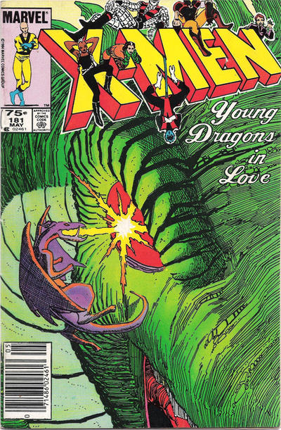 Cover for The Uncanny X-Men (Marvel, 1981 series) #181 [Direct Edition]