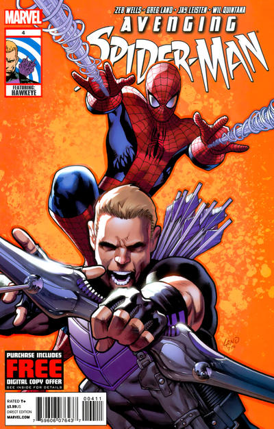 Cover for Avenging Spider-Man (Marvel, 2012 series) #4 [Variant Cover by Dale Keown]