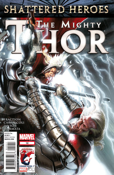 Cover for The Mighty Thor (Marvel, 2011 series) #12