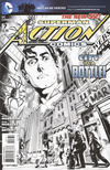 Cover for Action Comics (DC, 2011 series) #7 [Rags Morales Black & White Cover]