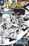 Cover for Action Comics (DC, 2011 series) #8 [Rags Morales Black & White Cover]