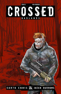 Cover Thumbnail for Crossed Badlands (Avatar Press, 2012 series) #2 [Incentive Red Crossed Cover - Jacen Burrows]