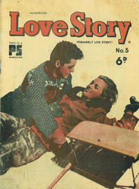 Cover Thumbnail for Illustrated Love Story (Cleland, 1950 series) #5