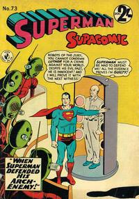 Cover Thumbnail for Superman Supacomic (K. G. Murray, 1959 series) #73
