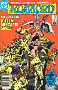 Cover Thumbnail for Warlord (DC, 1976 series) #108 [Newsstand with Text Edition]
