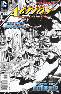 Cover Thumbnail for Action Comics (DC, 2011 series) #8 [1:200 Incentive Cover Edition]