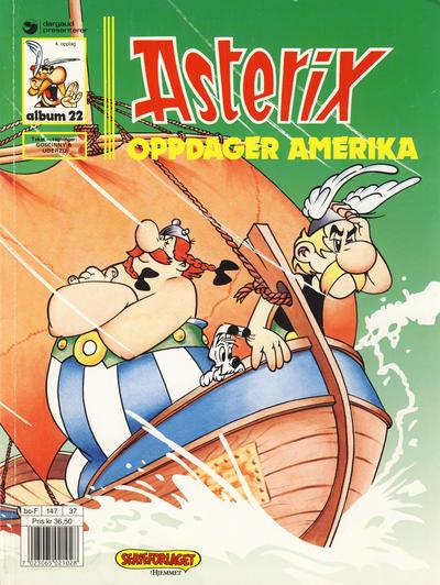 Cover for Asterix (Hjemmet / Egmont, 1969 series) #22 - Asterix oppdager Amerika [3. opplag]