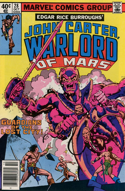 Cover for John Carter Warlord of Mars (Marvel, 1977 series) #28 [Newsstand]