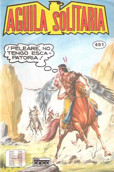 Cover for Aguila Solitaria (Editora Cinco, 1976 ? series) #451