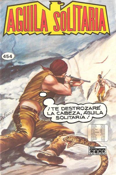 Cover for Aguila Solitaria (Editora Cinco, 1976 ? series) #454