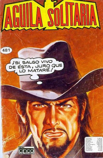 Cover for Aguila Solitaria (Editora Cinco, 1976 ? series) #481