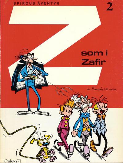 Cover for Spirous äventyr (Carlsen/if [SE], 1974 series) #2 - Z som i Zafir [3:e upplagan, 1987]
