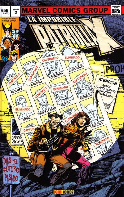 Cover for Marvel Gold. La Imposible Patrulla-X (Panini España, 2011 series) #2 - Días del Futuro Pasado