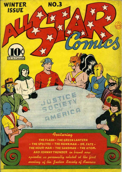 Cover for All-Star Comics (DC, 1940 series) #3 [Price Variant]