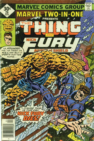 Cover for Marvel Two-in-One (Marvel, 1974 series) #26 [Regular]