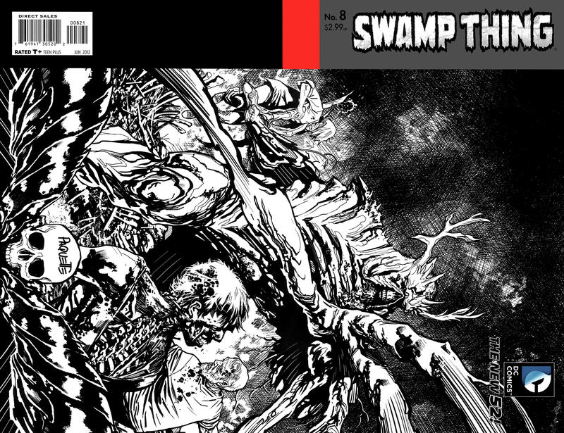 Cover for Swamp Thing (DC, 2011 series) #8 [Yanick Paquette Variant Sketch Cover]