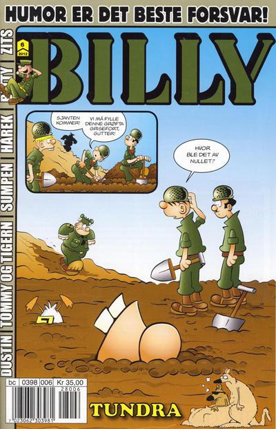 Cover for Billy (Hjemmet / Egmont, 1998 series) #6/2012