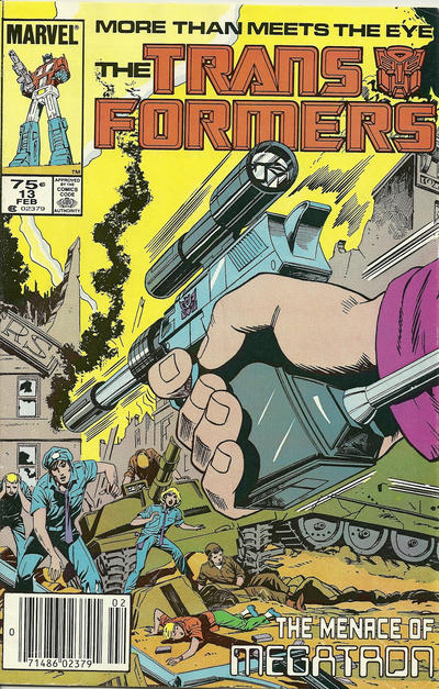 Cover for The Transformers (Marvel, 1984 series) #13 [Newsstand Edition]