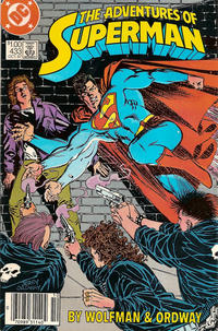 Cover Thumbnail for Adventures of Superman (DC, 1987 series) #433 [Canadian Newsstand]