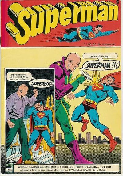 Cover for Superman Classics (Classics/Williams, 1971 series) #61