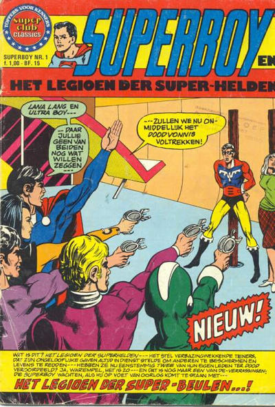 Cover for Superboy en het Legioen der Super-Helden (Classics/Williams, 1975 series) #1