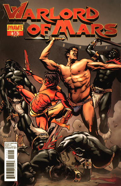Cover for Warlord of Mars (Dynamite Entertainment, 2010 series) #16 [Joe Jusko Cover]