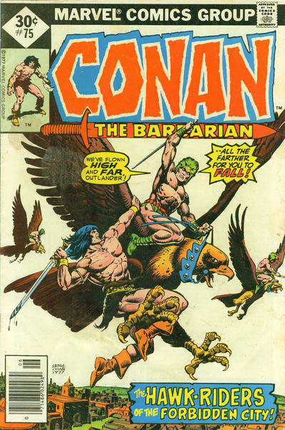 Cover for Conan the Barbarian (Marvel, 1970 series) #75 [30¢ Cover Price]