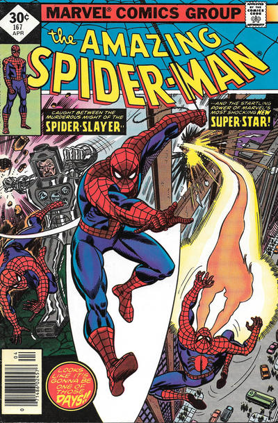 Cover for The Amazing Spider-Man (Marvel, 1963 series) #167 [Newsstand Edition]
