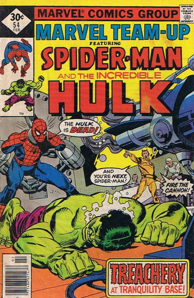 Cover for Marvel Team-Up (Marvel, 1972 series) #54 [British price variant]