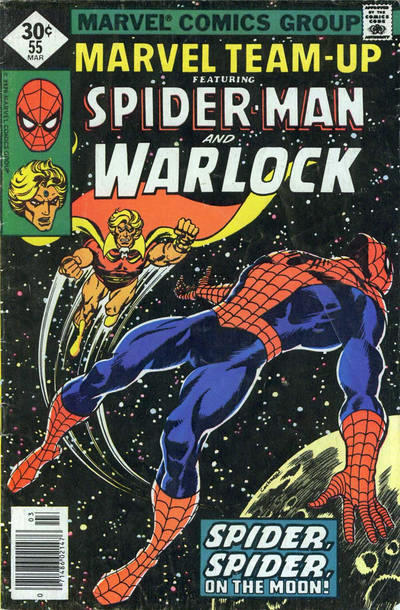 Cover for Marvel Team-Up (Marvel, 1972 series) #55 [British Price Variant]