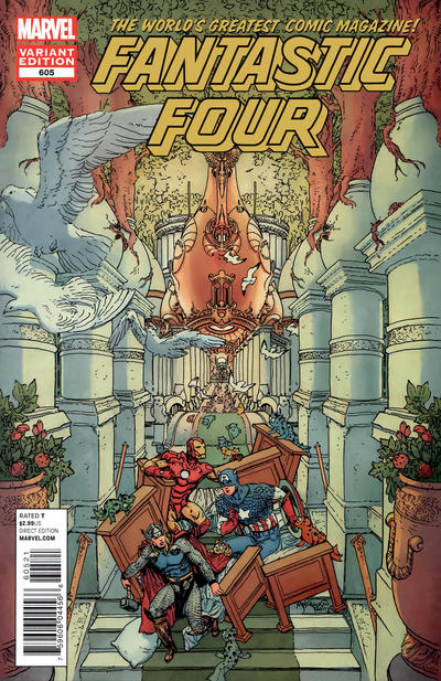 Cover for Fantastic Four (Marvel, 2012 series) #605