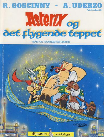 Cover for Asterix (Hjemmet / Egmont, 1969 series) #28 - Asterix og det flygende teppet [3. opplag]