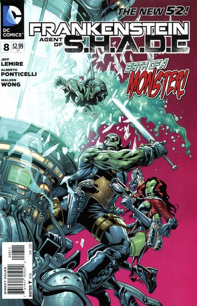 Cover for Frankenstein, Agent of S.H.A.D.E. (DC, 2011 series) #8