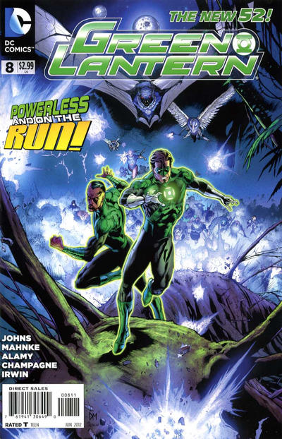 Cover for Green Lantern (DC, 2011 series) #8 [Combo-Pack]
